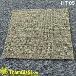 Thảm lót sàn cuộn Indo HT 05 màu Đen Xám (Giá sỉ cho CLB Bida, GYM, Yoga)