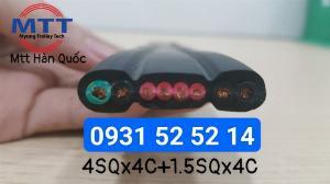 Cáp dẹt cầu trục 4sqx4c+1.5sqx4c