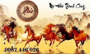 Tranh ngựa, gạch tranh ốp tường 3d Hp6302