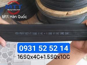 Cáp điện dẹt cầu trục 16mm x 4c + 1.5mm x 10c