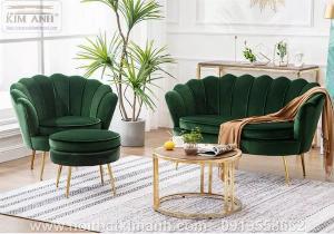 Ghế sofa vỏ sò bọc nỉ cao cấp cho phòng khách tại Phú Giáo - Bình Dương