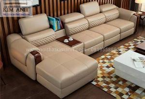 Sofa da công nghiệp cho phòng khách, chung cư tại Biên Hòa, Đồng Nai