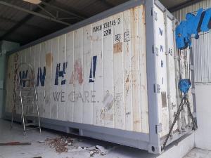Thùng Container lạnh 20feet chứa thực phẩm đông lạnh
