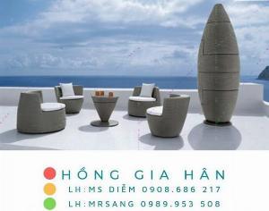 Sofa mây nhựa Hồng Gia Hân SM217