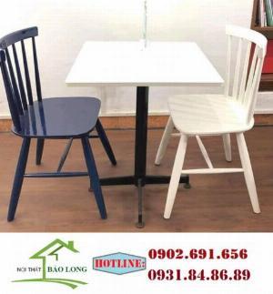 Bộ bàn ghế song tiện sơn màu theo yêu cầu