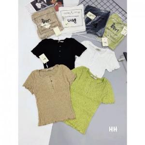Áo Kiểu Nữ Chất Đũi Nhăn Ôm Dáng Mix quần Jean Chân Váy Đi Chơi Cực Xinh_Nhiều Màu