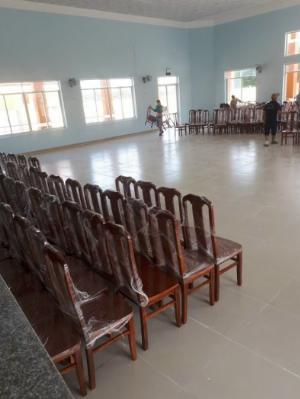Ghế đầo bò gỗ tràm mặt ghế gỗ cao su gía rẻ