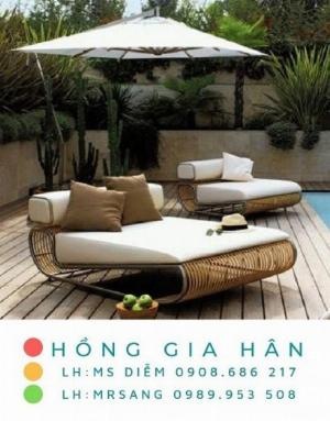 Sofa mây nhựa Hồng Gia Hân SM333