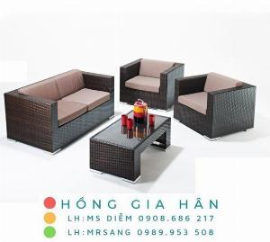 Sofa mây nhựa Hồng Gia Hân SM338