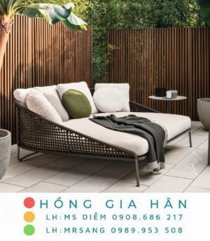 Sofa mây nhựa thư giãn Hồng Gia Hân