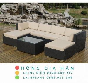 Sofa mây nhựa Hồng Gia Hân SM345