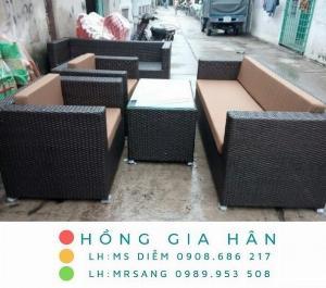 Sofa mây nhựa Hồng Gia Hân SM346