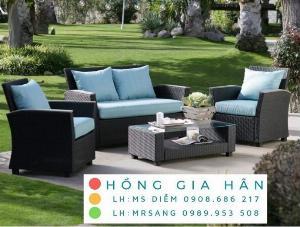 Sofa mây nhựa Hồng Gia Hân SM347