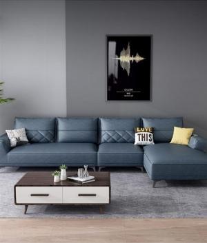 Các mẫu sofa góc chữ L bằng da  cho phòng khách đẹp Bình Dương