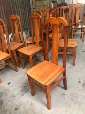 Ghế gỗ đầu bò gồ tràm + cao su