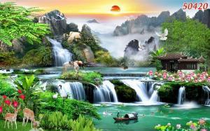 Tranh 3D - tranh đẹp phong cảnh