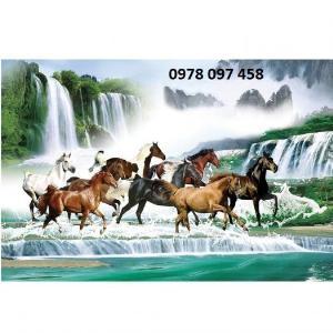 Tranh ngựa đẹp - tranh gạch