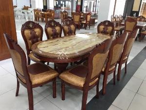 Bộ bàn ăn gỗ nhập khẩu cao cấp BA14