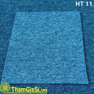 Thảm lót sàn cuộn Indo HT 11 màu Xanh Nhạt (Giá sỉ cho CLB Bida, GYM, Yoga)