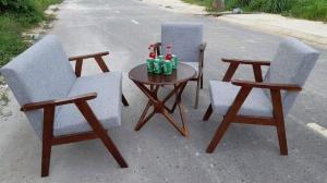 Bộ bàn ghế gỗ  sofa cafe