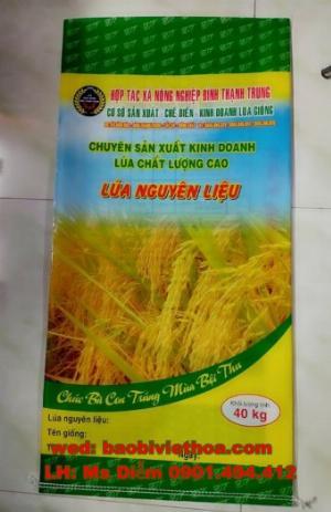 Bao đựng lúa giống 40 kg in trục đồng giá rẻ