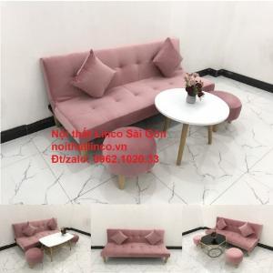 Bộ bàn ghế salon sopha màu hồng cách sen giá rẻ hiện đại Nội thất Linco Sài Gòn