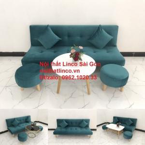 Ghế sofa giường nằm 1m7 mini giá rẻ xanh lá cây đậm đẹp | Nội Thất Linco Sài Gòn