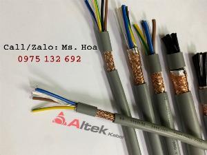 Cáp điều khiển 3 lõi  có/không lưới chống nhiễu