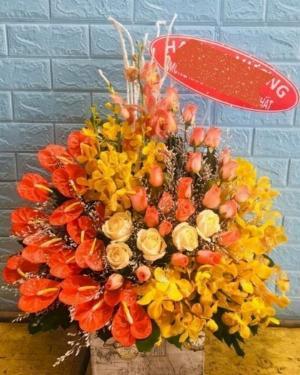 Giỏ hoa chúc mừng khai trương cửa hàng - LDNK251