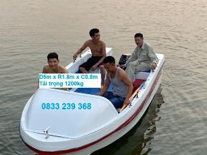 Cano chở được 10 người, tải trọng đến 1200kg