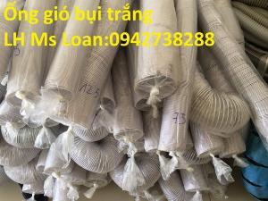 Báo giá ống gió bụi trắng-ống hút bụi nhựa PVC lõi thép phi 125 giá ưu đãi