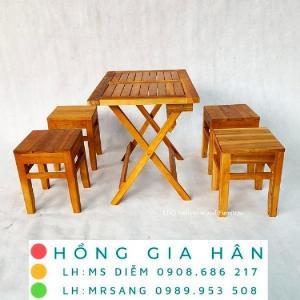 Bàn ghế cafe cóc cực xịn xò Hồng Gia Hân C112