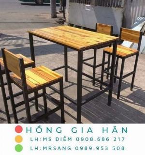 Bàn ghế quán ăn Hồng Gia Hân C117