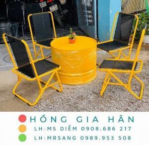 Bàn ghế Bar street Hồng Gia Hân C120