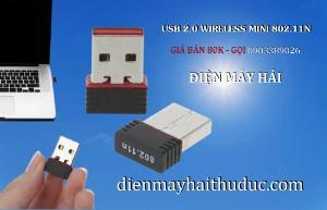 USB 2.0 Wireless Mini 802.11N giá 80K xài cho PC, Laptop đều OK