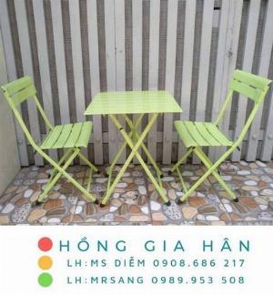 Bàn ghế cafe, trà sữa giá rẻ Hồng Gia Hân C124