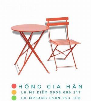 Bàn ghế cafe, trà sữa hiện đại Hồng Gia Hân C125