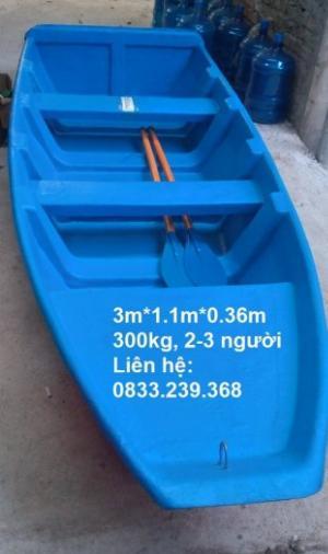 Thuyền nhựa câu cá 2-3 người đi