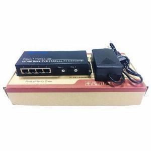Switch Quang 2 Cổng SC + 4 Cổng J45 10/100Mbps HL-2F4E-1SC
