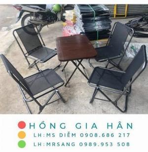Bàn ghế cafe giá rẻ Hồng Gia Hân C126