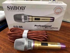 Micro Có Dây Shbod SD 86 Karaoke Chuyên Nghiệp