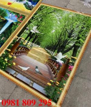 Gạch tranh 3d phong cảnh con đường