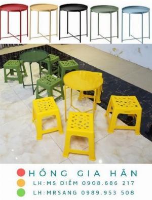 Bàn ghế cafe, trà sữa Hồng Gia Hân C101