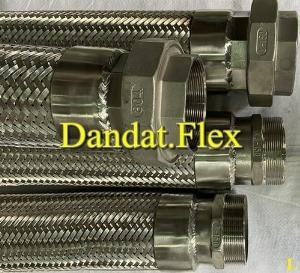 Khớp nối mềm inox thủy lực bọc lưới inox chính hãng