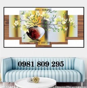 Tranh bình hoa - gạch tranh 3d trang trí phòng
