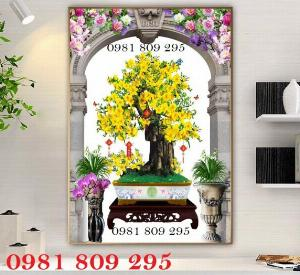 Tranh hoa mai - gạch tranh 3d - tranh gạch