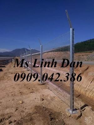 Hàng rào lưới thép chấn sóng sơn tĩnh điện