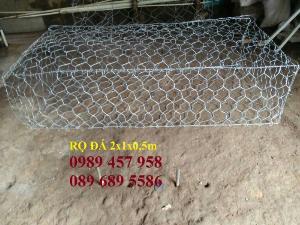Nhà sản xuất rọ đá bọc nhựa 2x1x1m, Rọ đá chống sụt lở, Rọ thép 2x1x0,5m