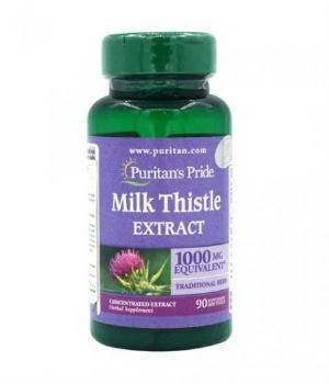 MILK THISTLE EXTRACT 1000 MG ( Lọ 90 viên ) Hỗ trợ chức năng gan, ngăn chặn sự xâm nhập từ các chất độc hại bên ngoài.