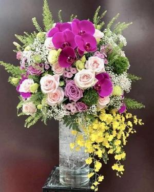 Bình hoa chúc mừng ngày mới tươi đẹp - LDNK83